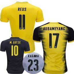 Wholesale Champions Football - champion league 17 18 soccer jersey REUS football shirt PULISIC KAGAWA AUBAMEYANG GOTZE Camiseta 2017 2018 SANCHO maillot