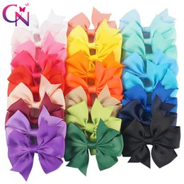 "Wholesale Grossgrain Ribbons Bows - 50 Pieces  Lot 3 ""Pinwheel Hair Bows with Clips for Girls Kids Princess Plain Grossgrain Ribbon Bows Fashion Hairpin Hair Accessories"