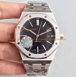Wholesale Cal Watches - JF Factory 3 Colors V3 Super Version 41mm GIFT Mens Automatic Cal.3120 Watch Men Black Dial Calendar Full Steel Watches Sapphire 15400 Dive