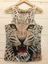 camisa do tanque do tigre Desconto w1209 2015 novas mulheres dos homens tanques engraçadas hip hop 3D tanque Personalidade Tiger Leopard Lobo Rato partes superiores tee o-Neck imprimir sexy ladies