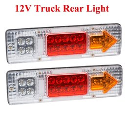 Wholesale Led Truck Rear Stop Light - 2 x 19-LED UTE Truck Trailer Lorry Caravan Stop Rear Tail Indicator Light Lamp order<$18no track