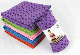 Wholesale First Class Shipping - 50pcs lot Free Shipping By Fedex First class quality Yoga Blankets 180cm Extended yoga towel, yoga mat