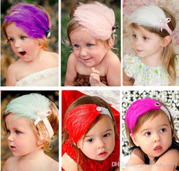 Wholesale Shining Headwear Kids Accessories - Baby feather Headbands Baby girl feather Hair Ornaments Shining headwear Kids' accessories For Kids Baby Girl Photo Prop 2015 NEW [SKU: