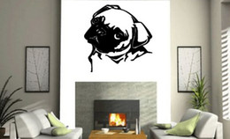 Wholesale Giant Wall Mural Stickers - PUG DOG WALL ART Sticker Mural Giant Large Decal Vinyl For Home Decoration Free Shipping
