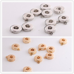 snap buttons 12mm gold Coupons - Silver Gold Alloy 12mm 18mm Noosa Ginger Snap Base Interchangeable Accessories for Jewelry Snap Button Base DIY Jewelry Accessory j4855