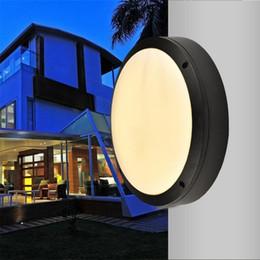 Wholesale Outdoor Balcony - 18w 24w 30w led outdoor wall lamps waterproof round Garden lamp aisle balcony lamp ac 85-265v UL FCC