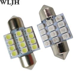 Wholesale Mitsubishi Maps - WLJH Auto Led Light 31mm DE3175 12 SMD 1210 3528 Festoon Dome Interior Light Map Door Lamp 12v 3021 3022 DE3175