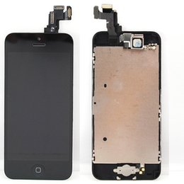 Wholesale Botton Home Iphone - Wholesale-for Iphone 5C LCD display+touch screen digitizer+home botton+bezel frame+front camera full assembly Black,free shipping