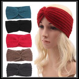 Wholesale Crochet Wide Headband Flower - Women Winter Ear Warmer Headwrap Wide Crochet Headband Knit Flower Hairband