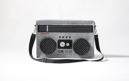 Wholesale Men S Messenger - Wholesale-2015 New Hot-selling Classic Boombox Bag 80's Radio Laptop Shoulder Bag Retro Messenger Bag