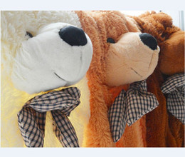 Wholesale Toys Price - Wholesale-200CM Three Colors Giant Teddy Bear Skin Coat Lowest Price Plush Toys Free Shipping Wholesale Factory Gifts Stuffed Toys P086