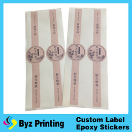 Wholesale vinyl printed labels - High quality stardard printing glossy lamination honey label sticker for seal
