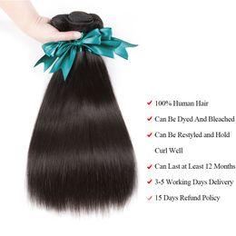 Wholesale Cheap Brazilian Straight - Cheap Hair 6 Bundles Brazilian Straight Hair 8a Grade Virgin Unprocessed Natural Color 50g piece Brazilian Human Hair Weaving Total 300g