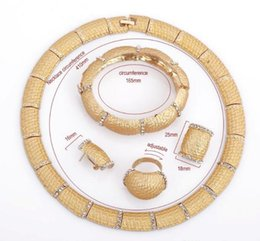 Wholesale Wholesale Dubai Gold Plated - Westernrain Fashion Brand Best Selling 2016 new Gold Dubai Jewelry Women Costume Jewelry Necklace Set Classic African