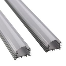 Wholesale Led Hard Strip Rgb - Wholesale-wholesale 5pcs*50cm DC 12V 36SMD 5050 LED RGB Hard Rigid Strip Led Bar Light with U Aluminium shell +pc cover for Cabinet
