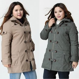 Wholesale Plus Size Tropical Dresses - Wholesale-2015 Rushed Parkas Mujer Plus Size Long Cotton Winter Coat Women Casual Dress Jacket Parka Double Breaste Tropical Snow Overcoat