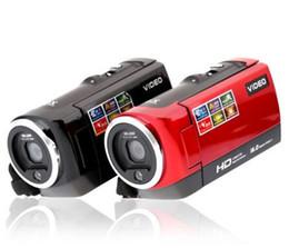Wholesale Tft Cmos 16mp - 2017 Portable Video Camera 720P HD 16MP 16x Zoom 2.7'' TFT LCD Digital Video Camcorder Camera DV DVR Black Red 2017 New Arrival