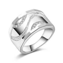 Wholesale Hot Jewelry Trends - Free Shipping New 925 Sterling Silver fashion jewelry Trend Men Czech drill ring hot sell girl gift 1484