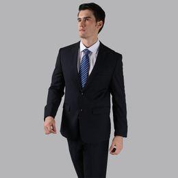Vestidos de novia negro vino online-(Jacket + Pants + Tie) Hombres Trajes de boda 2015 Vino tinto Negro Gris terno masculino Casual Tuxedo F1315