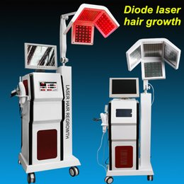 Wholesale Alopecia Hair Loss Treatment - Vertical Laser Hair Growth hair Loss Treatment Anti-hair Removal Therapy machine Alopecia 190 diode laser hair growth Beauty Instrument