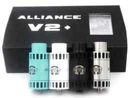 Wholesale Posting Kit - Alliance V2 RDA Kit 22mm Diameter Rebuidable Dripping Atomizer Clone 4 DIY Post Deck Big Drip Tip Drop Tank DHL Free ATB450