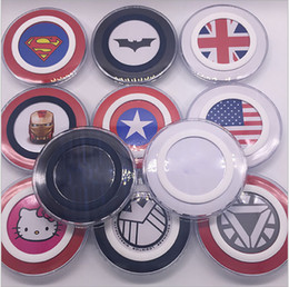 Wholesale America Pack - Cartoon Wireless Charger QI Standard Avenger Captain America for iPhone 8 Samsung Galaxy S6 S7 Edge with Retail Pack
