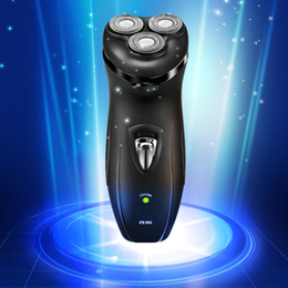 Wholesale Electric Men Shaver Trimmer - Wholesale-high quality Electric Shaver epilator Rechargeable Rotary Washable face care beard trimmer 3D Head RAZOR BLADES men F215
