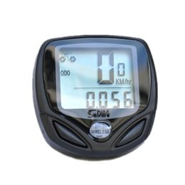 Wholesale Multifunction Bicycle Computer - Sunding Sd-548c Multifunction Wireless Bicycle Stopwatch Odometer Speedometer Bike Cyclometers Waterproof Cycle Computer Free Shipping by DH