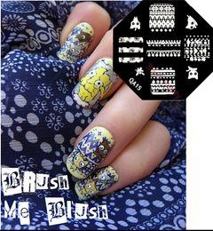 Wholesale Metal Plate Nail Stamping Kits - Wholesale-QA 2015 Hot Stamping Nail Image Metal Plates Stamping Kit Set 100 Mixed Designs 30pcs lot nail art stamping plates NSTP-04 01-98
