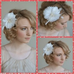 Wholesale Cheap Pearl Decorations - In Stock Cheap Sale High Quality Wedding Bridal Hair Accesories Feather Pearl Bridal Hair Combs Bridal Hail Veil Jewely Hair Decoration