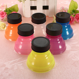 Wholesale Drink Can Tops - New 60pcs Tops Snap On Pop Soda Can Bottle Cap Caps COOL Fun Easy Drink Colorful Can convert