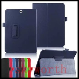 Wholesale Leather Case Galaxy Note Tab - Magnetic Stand Flip Folio Leather case for Samsung Galaxy tab E A S2 S T550 T280 T580 T710 T800 T810 T560 T377 cover