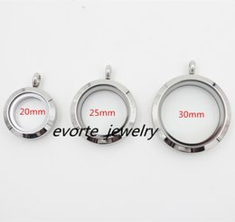 Wholesale Open Locket Pendant - High Quality 20mm 25mm 30mm 316L Stainless Steel Screw Top Open Floating Pendant Living Locket(no chain)