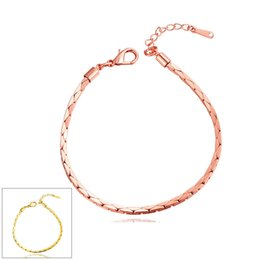Wholesale 18k Gold Bracelet Thin - Bangle Bracelets for Women Men Gold European Charm Bracelet for Men Women Personalized Infinity Thin Gold Bracelets Rose 18k Gold Bracelet