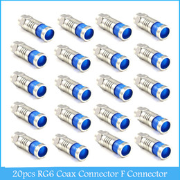 Wholesale Coax Coaxial - 20pcs RG6 Coax Connector Compression Cable F Connector Coaxial F-Type Connector C348
