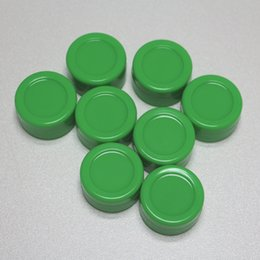 Wholesale 5ml Container Green - GREEN Color silicone wax and oil container 5ml non stick wax jars food grade vaporizer dab wax container