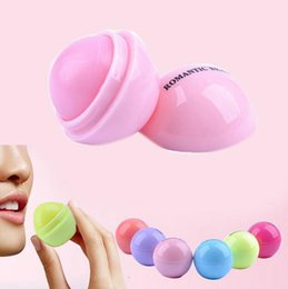 Wholesale Wholesale Organic Lip Balm - 6 Colors Popular Unsex Ball Cola Moisturizing Natural Organic Lip Balm New Girls Lip Smacker Lovely Makeup Gift water lip stick