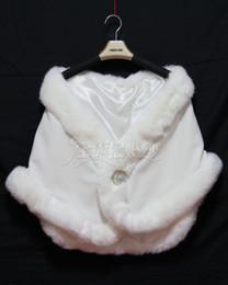 Rhinestone encolhem os ombros on-line-Real Imgae Branco Completo Faux Fur Nupcial Wraps Baixa Lapela Inverno Quente Shrug Wraps Mulheres Com Strass Para Festa de Formatura
