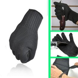 Wholesale anti steel - 1 Pair kevlar Cut Resistant Gloves Cut Proof Level 5 Protection Stainless Steel Wire Metal Mesh Butcher Anti-cutting Work Safety Gloves