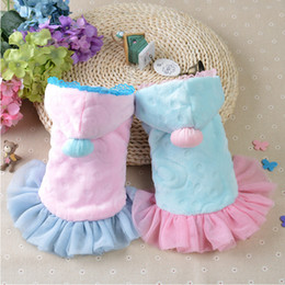 Wholesale princess dog costumes - NEW Cheap Christmas Dog Clothes Cute Festival Dog Clothes Princess Lace Pajamas Dog Jumpsuit Winter Overalls for Dogs Velvet Hoody CAP009
