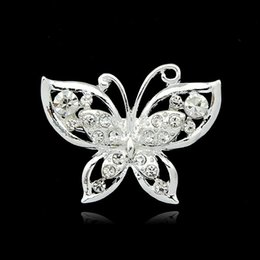 Wholesale Small Silver Cross Sterling - Free postage Korean version of the new 2016 silver chain collar small collar pin brooch crystal butterfly brooch wholesale cash offer