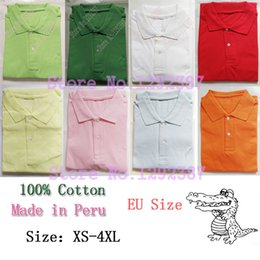 Wholesale men s mesh shorts - Wholesale-Made in Peru gavials camisas jacare 100% Pique Cotton Men Casual Classic polos CASUAL Mesh polo plus size XXXL 4XL FASHION tops