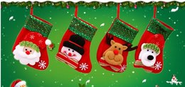 Wholesale Candy Jewelry For Kids - hristmas Bag Jewelry Sequins Decoration Non-woven Fabric Christmas Socks Party Gifts For Kids Candy Bags Christmas Socks Gift Bags