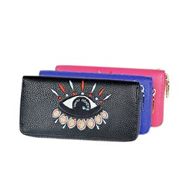Wholesale Order Lady Purse - Sexy Women Eye Summer Embroidery Lady Long Purse Hand Bag Chutch NVIE order<$18no track