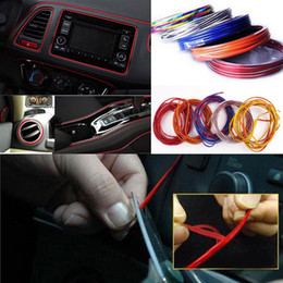 3d auto stickers Coupons - 5M Hi-Quality Car DecorationTrims Strips Accessories DIY Thread Stickers Decoration and Decals 3D Auto Car-Styling Interior Decoration