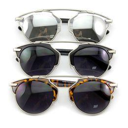 Wholesale Eyeglasses Charms - Wholesale-2015 3 Colors Charm Women Cat Eye Design Eyeglasses Oculos De Sol Female Retro Sun Glass Sunglasses Lady Eyewear
