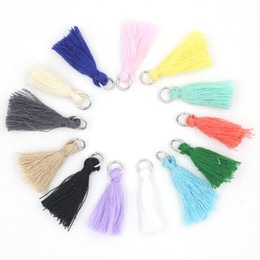 Wholesale Clips For Necklace Charms - New Arrival DIY Jewelry Charms Clip on Charm Mix 13 Colors Art Boho Tassels Jewelry DIY Tassel Charm for Bracelet and Necklace