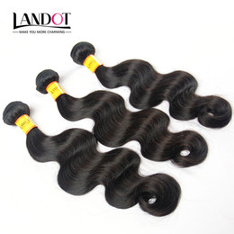soft waves hair Promo Codes - Unprocessed Malaysian Virgin Hair Body Wave 100% Human Hair Weaves 4 Bundles Natural Color SOFT THICK TANGLE FREE Malaysian Hair Extensions