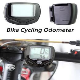 Wholesale Wireless Black Bike Computer - Waterproof Wireless LCD Digital Bicycle Bike Cycling Computer Odometer Speedometer Bicycle Accessories-Black