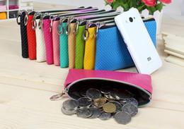 Wholesale Purse Bags Accessories - Fashion Simple Coin Purse Candy Color Women Bag Accessories Faux Leather Wallets Phone Bag Mix Colors